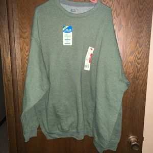 Fruit of the loom olive crew neck
